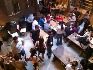 Vista de la Taberna de Cipri, donde tuvo lugar la presentación del juego